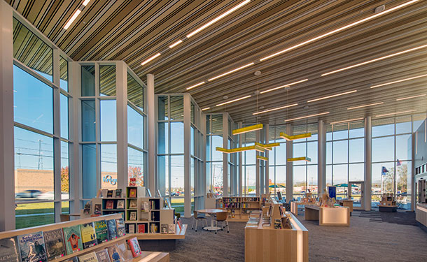 Ceilings & Walls - King Road Branch Library